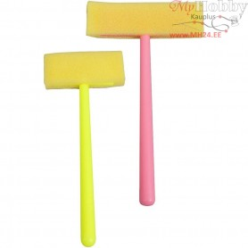 Foam Brushes, W: 5+8 cm, 20mixed