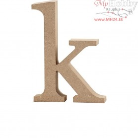 Letter, k, H: 12,7 cm, thickness 2 cm, MDF, 1pc