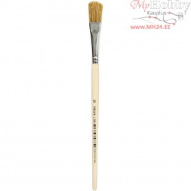 Varnish Brushes, size 10 , W: 13 mm, 12pcs