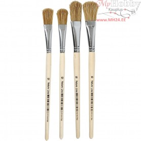 Varnish Brushes, size 10+16 , W: 13+17 mm, 4mixed