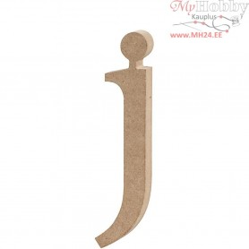 Letter, j, H: 15,5 cm, thickness 2 cm, MDF, 1pc