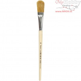 Varnish Brushes, size 16 , W: 17 mm, 12pcs