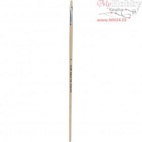 Nature Line Brushes, size 4 , W: 7 mm, long handles, 12pcs