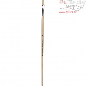Nature Line Brushes, size 12 , W: 11 mm, long handles, 12pcs