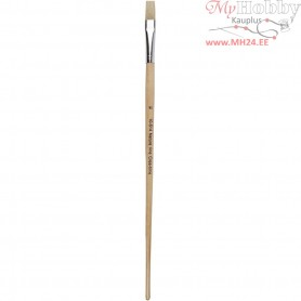 Nature Line Brushes, size 14 , W: 12 mm, long handles, 12pcs