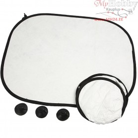 Car Sunshades, size 44x35 cm, white, 20pcs