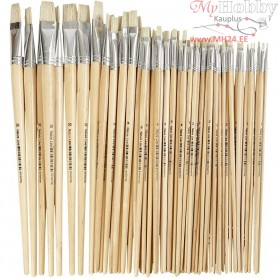 Nature Line Brushes, size 1-20 , W: 5-19 mm, long handles, 64mixed
