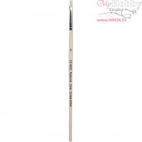 Nature Line Brushes, size 0 , W: 4 mm, short handles, 12pcs