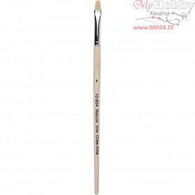 Nature Line Brushes, size 4 , W: 7 mm, short handles, 12pcs