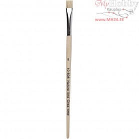 Nature Line Brushes, size 8 , W: 10 mm, short handles, 12pcs