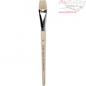 Nature Line Brushes, size 20 , W: 20 mm, short handles, 12pcs