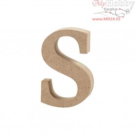 Letter, s , H: 8,5 cm, thickness 2 cm, MDF, 1pc