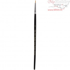 Gold Line Brush, size 1 , W: 2 mm, round, 12pcs