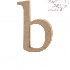 Letter, b, H: 13 cm, thickness 2 cm, MDF, 1pc
