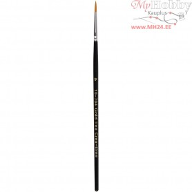 Gold Line Brushes, size 4 , W: 3 mm, round, 12pcs