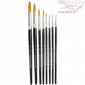 Gold Line Brushes, size 0-22 , W: 1,5-8 mm, round, 8mixed