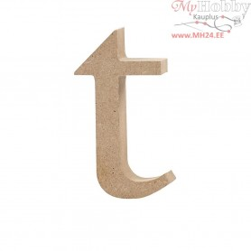 Letter, t, H: 10 cm, thickness 2 cm, MDF, 1pc