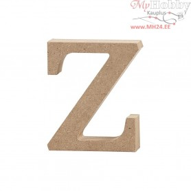 Letter, z, H: 8 cm, thickness 2 cm, MDF, 1pc