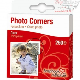 Photo Corners,  10 mm, clear, 250pcs