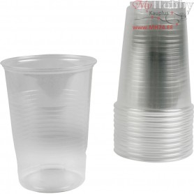 Plastic Cups,  40 cl , transparent, 50pcs
