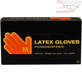 Latex Gloves, size medium , latex, 100pcs