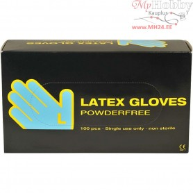 Latex Gloves, size large , latex, 100pcs
