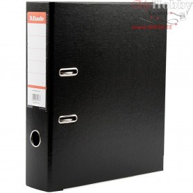 Ring Binder, W: 75 mm, black, 10pcs