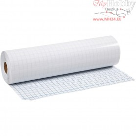 Transparent sticky back plastic, thickness 80 micron, W: 28 cm, 25m