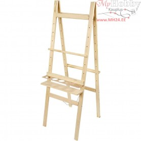 Double sided easel, H: 134 cm, W: 58 cm, pine wood, 1pc
