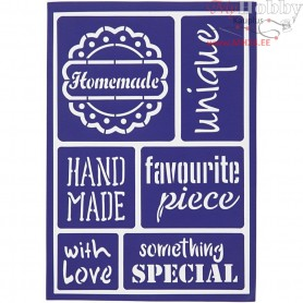 Flexible Stencil , sheet 21x14,8 cm, handmade, 1pc