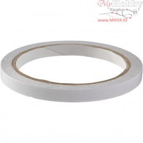 Double-sided Adhesive Tape, W: 9 mm, 10m
