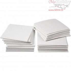 3D Foam Pads, size 5x5 mm, thickness 1-2-3 mm, 30mixed sheets