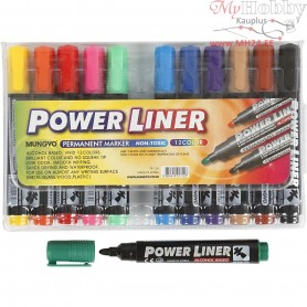 Power Liner, line width: 1,5-3 mm, asstd colours, 12mixed