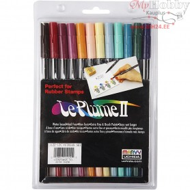 Le Plume II Pens, douche colours, 12pcs