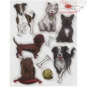 Silicone Motives, size 14x18 cm, dogs, 1sheet