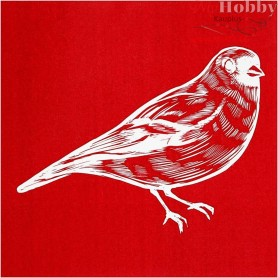 Screen Stencils, sheet 20x22 cm, bird, 1sheet