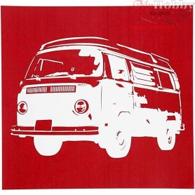 Screen Stencils, sheet 20x22 cm, bus, 1sheet