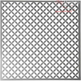 Stencil, size 30,5x30,5 cm, thickness 0,31 mm, round squares, 1sheet