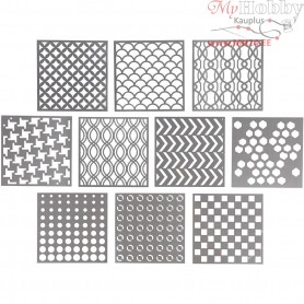 Stencils, size 15x15 cm, thickness 0,31 mm, 10sheets