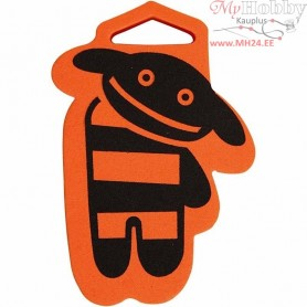 Foam Stamp, size 84x108 mm, thickness 22 mm, Dog, 1pc