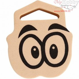 Foam Stamp, size 61x70 mm, thickness 22 mm, Eyes, 1pc
