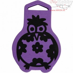 Foam Stamp, size 71x106 mm, thickness 22 mm, Bird, 1pc