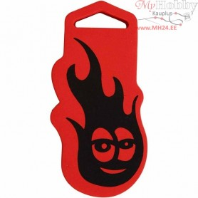 Foam Stamp, size 51x107 mm, thickness 22 mm, Fire, 1pc