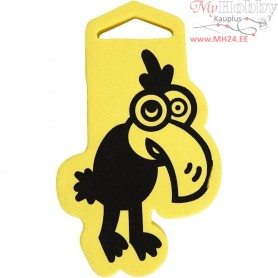Foam Stamp, size 66x110 mm, thickness 22 mm, Crow, 1pc