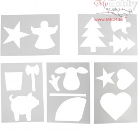 Christmas-Shaped Template, A4 21x30 cm, white, 5mixed sheets