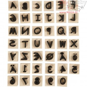 Foam Stamps, size 3x3 cm, thickness 13 mm, 41mixed