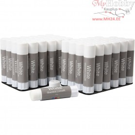 White Glue Stick,  10 g, 48pcs