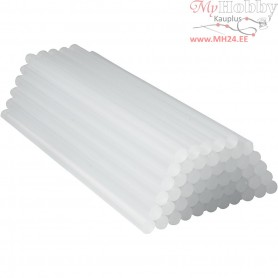 Glue gun sticks, D: 11 mm, L: 25 cm, 50pcs