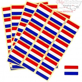 Flag Stickers, size 15x22 mm, Netherlands, 72pcs
