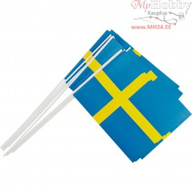 Waving Flags, size 20x25 cm, Sweden, 10pcs